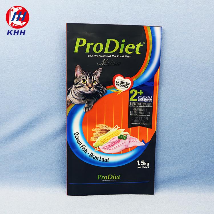 自立猫粮热封铝箔塑料袋