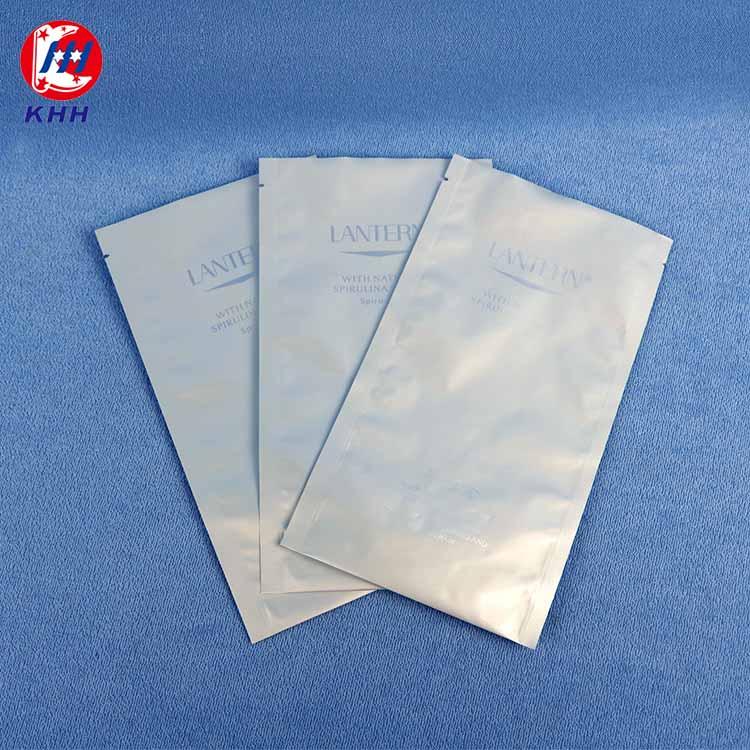三边封铝箔面膜包装袋
