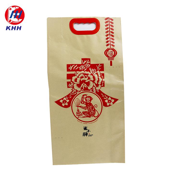 牛皮纸手提大米包装袋